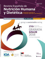 Ver Vol. 20 (2016): (Suppl 1) 17th International Congress of Dietetics (ICD): going to sustainable eating
